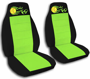 Black And Lime Green Softball Seat Covers Other Colors Available