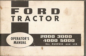 Ford 2000 3000 4000 5000 Tractor Operator s Manual