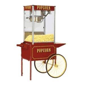 Commercial 12 Oz Popcorn Machine Theater Popper Maker Paragon Tp 12 W cart