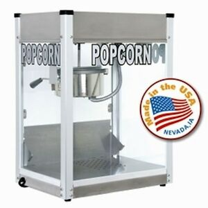 Commercial 6 Oz Popcorn Machine Theater Popper Cart Paragon Pro Ps 6