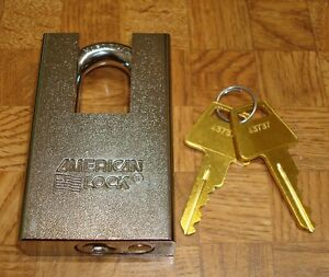 Brand New Amaa5360 American Lock Chrome 2 Shrouded Padlock Keyed Alike Ka43737