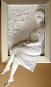 Bill Mack Memories Bonded Sand Woman HAND SIGNED FINE ART WALL SCULPTURE