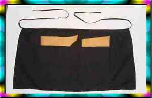 Aprons W 2 Large Pockets Huge Lot Black