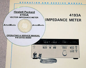 Hp Operating Service Manual 4193a Vector Impedance Meter good Schematics