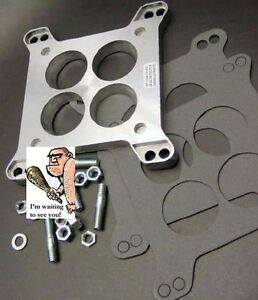 Carter Rochester 4 Barrel To Holley Carburetor Adapter With Mounting Hardware