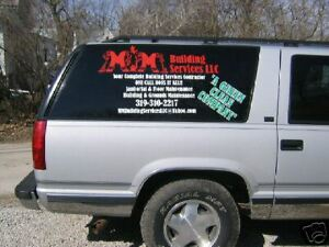 New Custom Any Business Vinyl Lettering For Any Vehicle