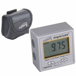 Igaging Angle Cube Digital Magnetic Protractor Gauge Level Table Saw W case