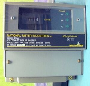 Digital Kwh Meter 3 phase 400 Amp Series 4000 Nmii K423