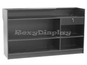 Register Black Stand Display Case Store Fixture Wood Knocked Down ltc6bk