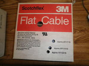 3m Cable Number 3801 40 Flat Ribbon Cable 100 Ft New Old Stock
