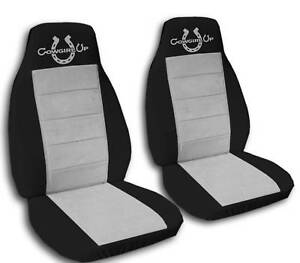 Black And Silver Cowgirl Seat Covers Universal Fit