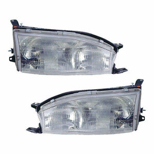 Pair Left Right Head Lights Fits 1992 1994 Toyota Camry