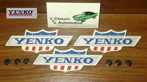 Yenko Emblem 69 70 Nova 1969 Fender 3 Pc Set Officially Licensed Products