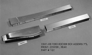 Ford Mercury Merc Sedan Coupe Convertible Rocker Box Kit Left 1941 1948 Ems