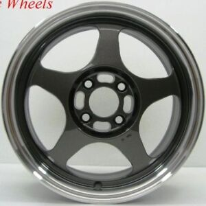 15 Rota Slipstream Wheels Tires 4x100 Integra Civic Crx