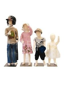 4 Units Children Mannequin Dress Form Display Flexible jf ch1357t Group