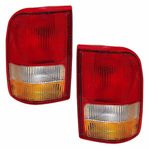 New Pair Tail Lights left Right Fits 93 97 Ford Ranger F37z13405a F37z13404a