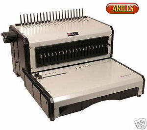 Akiles Alphabind Ce Electric Punch Binding Machine For Comb Spines 12 New