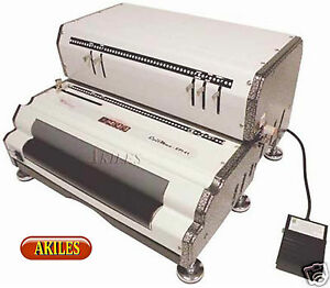 Akiles Coilmac epi Electric Coil Binding Machine Punch Inserter new