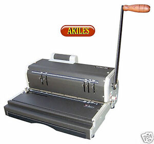 Akiles Coilmac er Coil Binding Machine Punch With Electric Inserter New