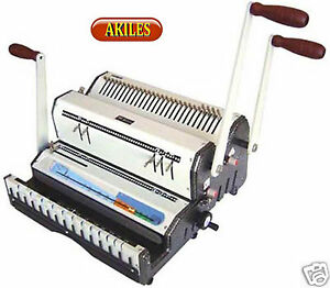 Akiles Duomac 421 Binding Machine Punch 4 1 Coil 2 1 Wire new Dual Use
