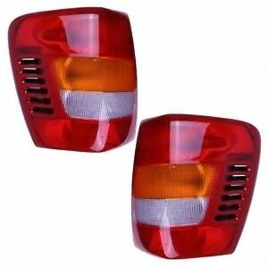 New Lamp Pair left Right Tail Lights Fits 1999 2004 Jeep Grand Cherokee