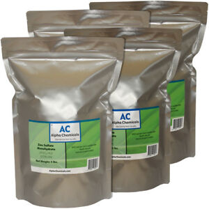Zinc Sulfate Monohydrate Powder 35 5 Zn 20 Pounds