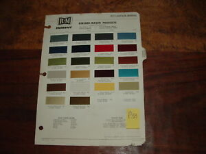1971 Chrysler Imperial Paint Chips By Rm Products