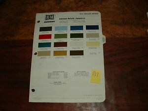 1972 Chrysler Imperial Paint Chips By Rm Products