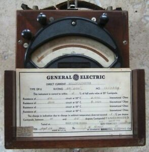 General Electric 1942 Vintage Millivoltmeter Dp2 Rare Test Equipment Steam Punk