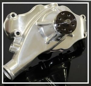 Bbc Chevy 396 427 454 496 Short Style Polished Aluminum Water Pump Hc 8021 p