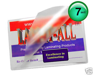 200 School Id Card Hot 7 Mil Laminating Pouches 2 1 2 X 3 5 8 By Lam it all