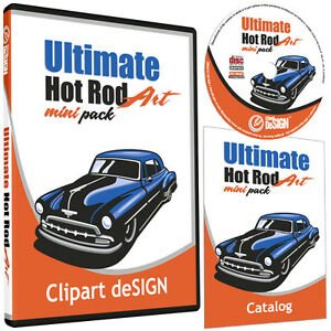 Hot Rod Clipart vinyl Cutter Plotter Images eps Vector Clip Art Cd