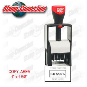 2000 Plus 2160 Self inking Date Stamp With Custom Text