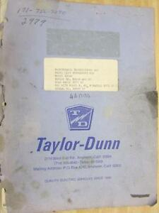 Taylor Dunn 1254b Instructions And Part List