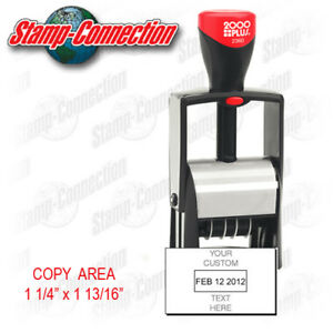 2000 Plus 2360 Self inking Date Stamp With Custom Text