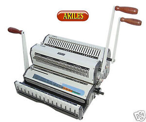 Akiles Wiremac Duo Wire Binding Machine Punch For 2 1 3 1 Spines 14 New