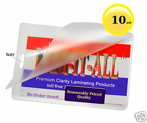 1000 10 Mil Hot Laminating Pouches Luggage Tag With Slot 2 5 X 4 25 Lam it all