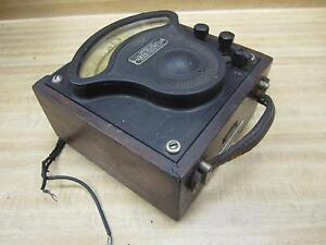 General Electric 719097 Vintage Industrial Ac Amp Meter W o Lid Antique