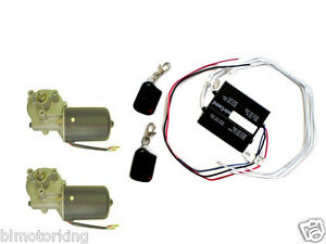 Dual Door Gate Kit Radio Wireless Remote Control Two Pm Gear Motor 12v Dc