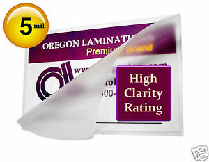 10000 Hot 5 Mil Business Card Laminating Pouches 2 1 4 X 3 3 4 Clear