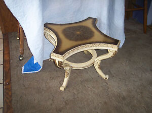 Gold French Carved Side Table End Table T236