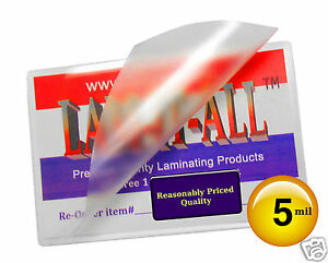 Lam it all Hot Laminating Pouches 9 X 14 1 2 inch Legal pk Of 100 Clear 5 Mil