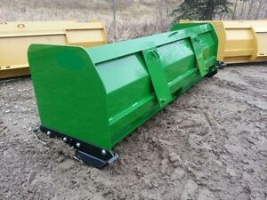 New 96 8 Snow Box Pusher Plow Blade John Deere Compact Tractor Loader Snowplow