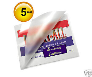 500 Pc Hot 5 Mil Letter Laminating Pouches 9 X 11 1 2 Clear By Lam it all