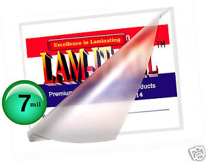 500 Pc Hot 7 Mil Letter Laminating Pouches 9 X 11 1 2 Clear By Lam it all