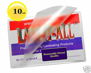 10 Mil Hot Lam it all Letter Laminating Pouches 9 X 11 1 2 100 Clear