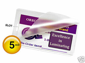 1000 Hot 5 Mil Luggage Tag Laminating Pouches With Slot Hole 2 1 2 X 4 1 4 Clear