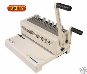Akiles Megabind 2 Comb Binding Machine Punch Also Does Spiral o Wire new