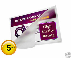 200 Hot 5 Mil Mini Letter Laminating Pouches 8 3 4 X 11 1 4 Clear